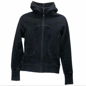 Lululemon size 6 black scuba hoodie